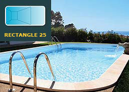 Kit Piscine Acier Rectangle 25